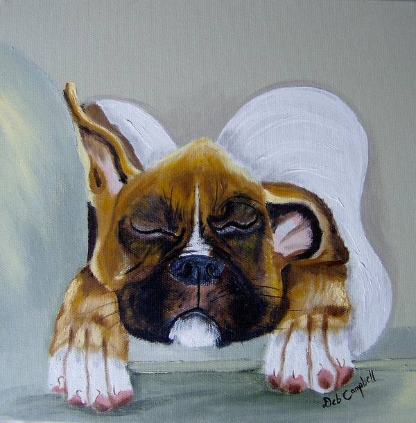 Dog Art Print featuring the painting Heavens Little Angel Two by Debra Campbell