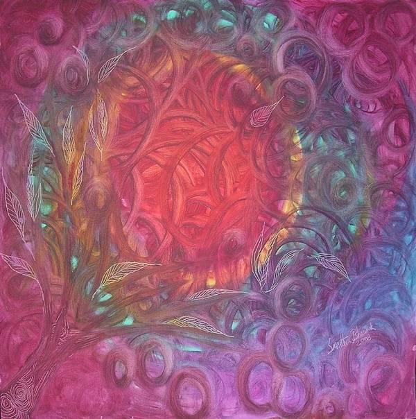 Illumination Art Print featuring the painting Illumination by Smeetha Bhoumik