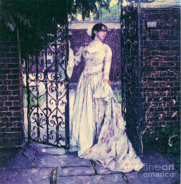 Polaroid Art Print featuring the photograph In The Doorway... by Steven Godfrey