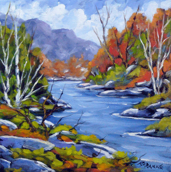 Art Art Print featuring the painting Inland Water by Richard T Pranke