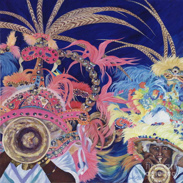 Bahamas Art Print featuring the painting Junkanoo by Danielle Perry