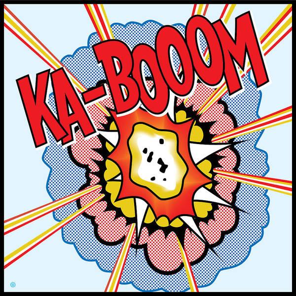 Pop Art Art Print featuring the painting Ka-booom by Gary Grayson