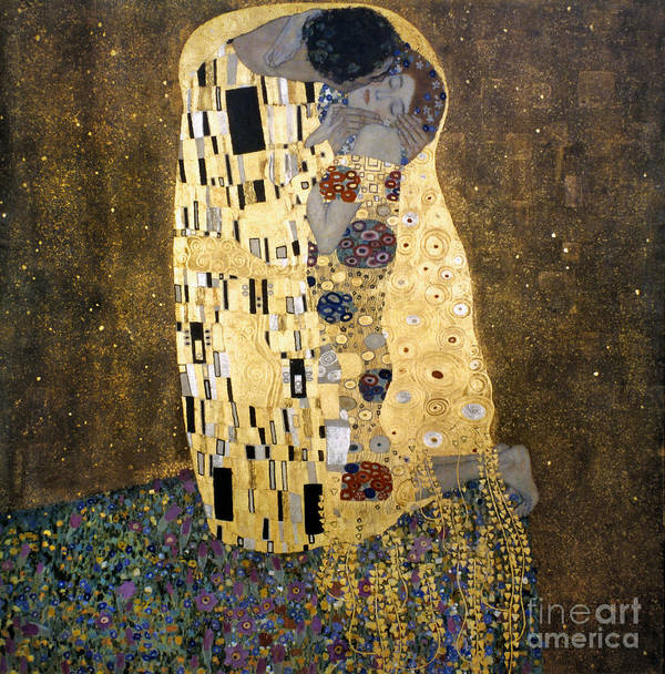 1907 Art Print featuring the photograph Klimt: The Kiss, 1907-08 by Granger