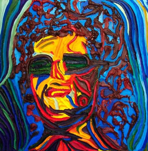 Art Print featuring the painting Lady In Sunglasses by Ira Stark
