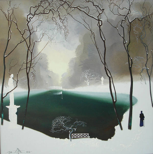 Landscape Art Print featuring the painting Last Winter by Andrej Vystropov