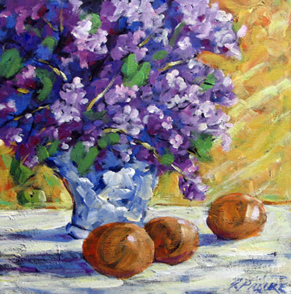 Art Art Print featuring the painting Lilac by Richard T Pranke