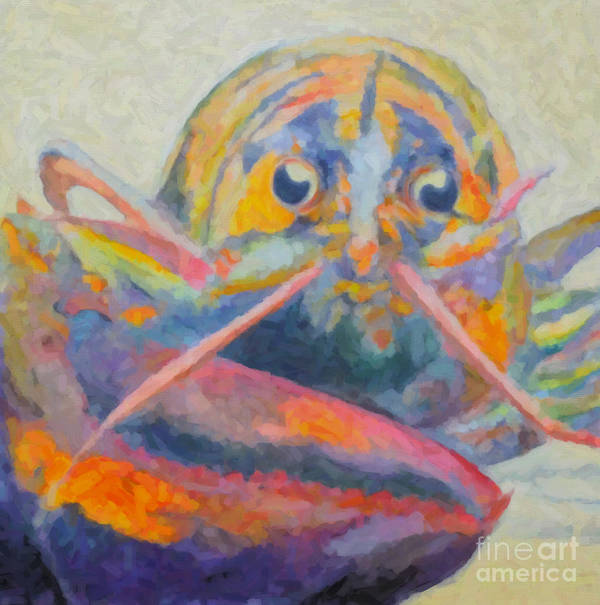 Lobster Art Print featuring the painting Lobster On The Loose by Robin Wiesneth