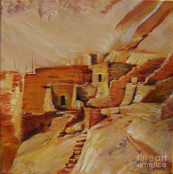 Indian Art Print featuring the painting Mesa Verde by Summer Celeste