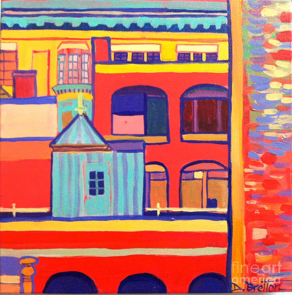 Lowell Art Print featuring the painting Mjs Lowell by Debra Bretton Robinson