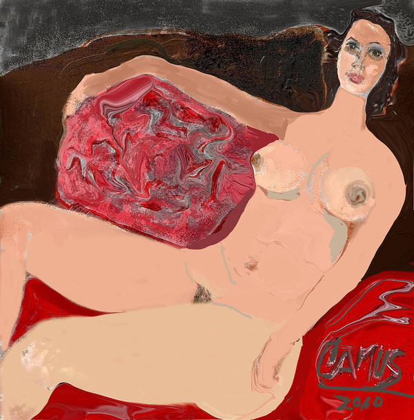 Art Art Print featuring the painting Modelo Valentina by Carlos Camus