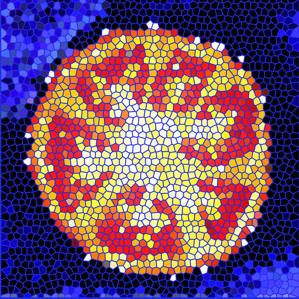Tomato Art Print featuring the photograph Mosaic Tomato by Nancy Mueller