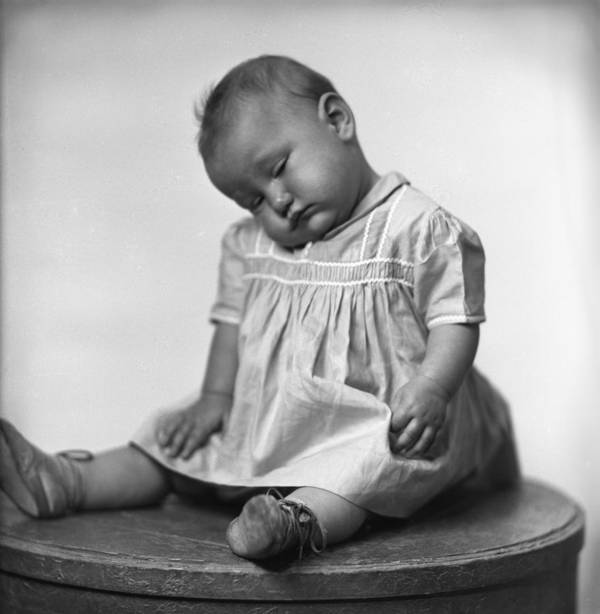 Baby Art Print featuring the photograph Nap Time Is Now by Seely Studio