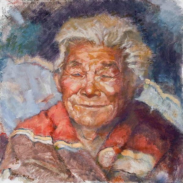 Elder Print featuring the painting Navaho Wisdom by Ellen Dreibelbis