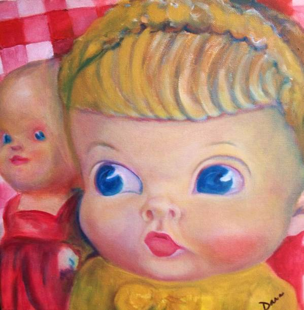 Doll Art Print featuring the painting New Girl In Town by Dana Redfern