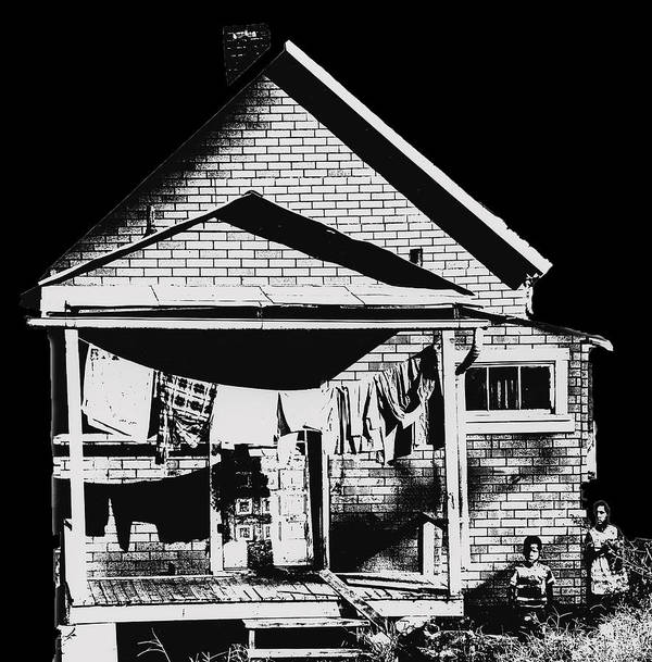 Poor Art Print featuring the photograph Other Side Of America by Don Wolf