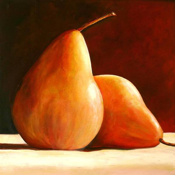 Pear Art Print featuring the painting Pair Of Pears by Toni Grote