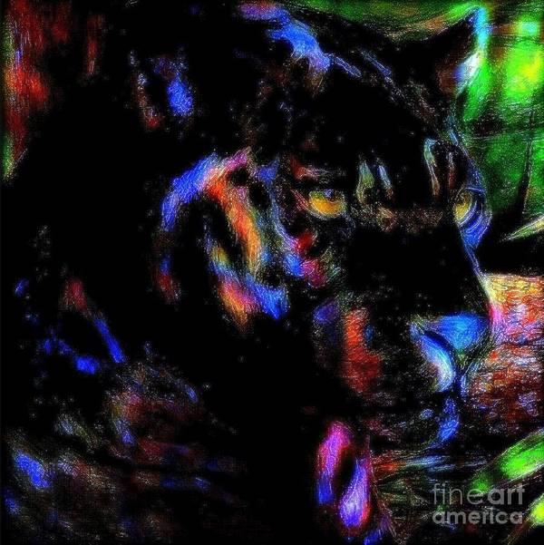 Panther Art Print featuring the painting Panther by Wbk
