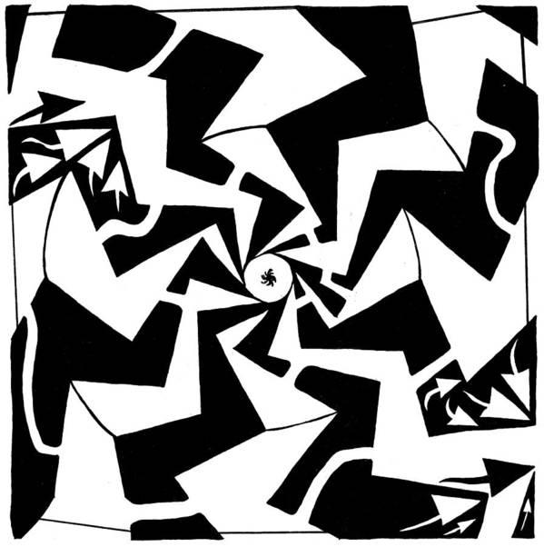 Maze Art Print featuring the drawing Paparazzi Maze by Yonatan Frimer Maze Artist