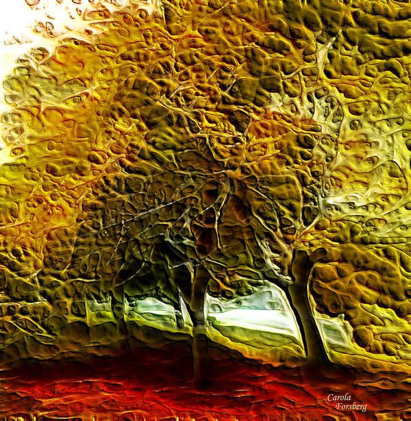 Landcape Art Print featuring the digital art Park Landscape by Carola Ann-Margret Forsberg