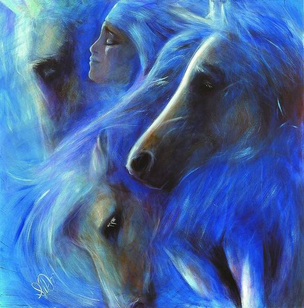 Native American Art Print featuring the painting Personal Empowerment I by Elizabeth Silk