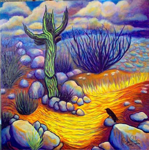 Landscape Art Print featuring the painting Resurrection by Steve Lawton