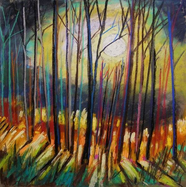 Landscape Art Print featuring the painting Ribbons Of Moonlight by John Williams