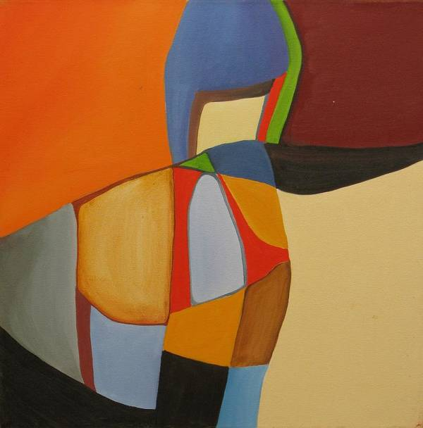 Abstract Art Print featuring the painting River Bound II by David McKee