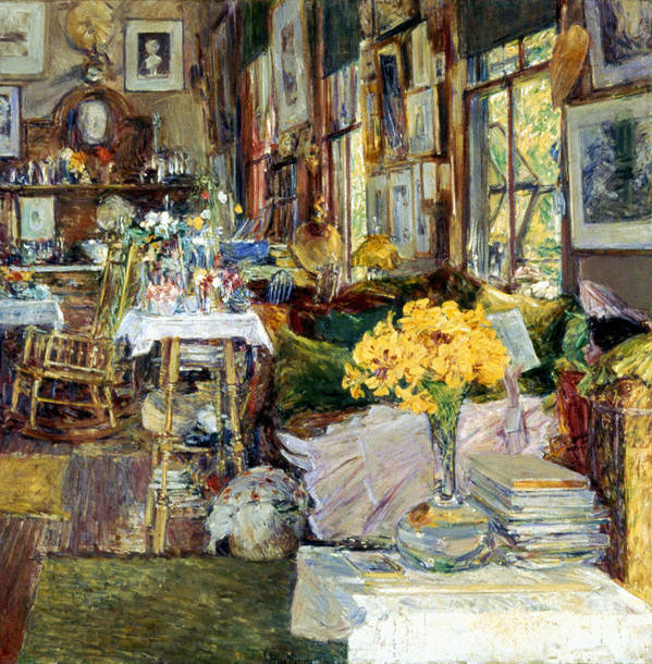 19th Century Art Print featuring the photograph Room Of Flowers, 1894 by Granger