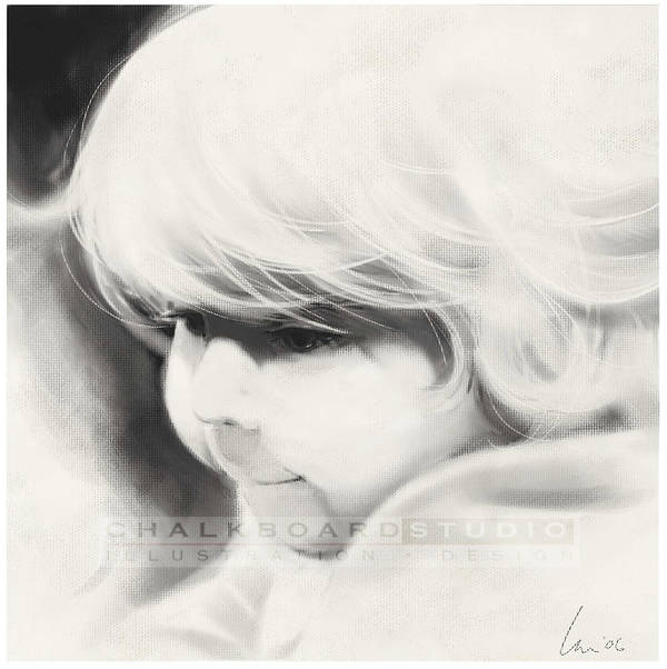 Portrait Art Print featuring the drawing Sarah by Laurie Musser