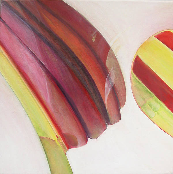 Abstract Art Print featuring the painting Sens 3 by Muriel Dolemieux