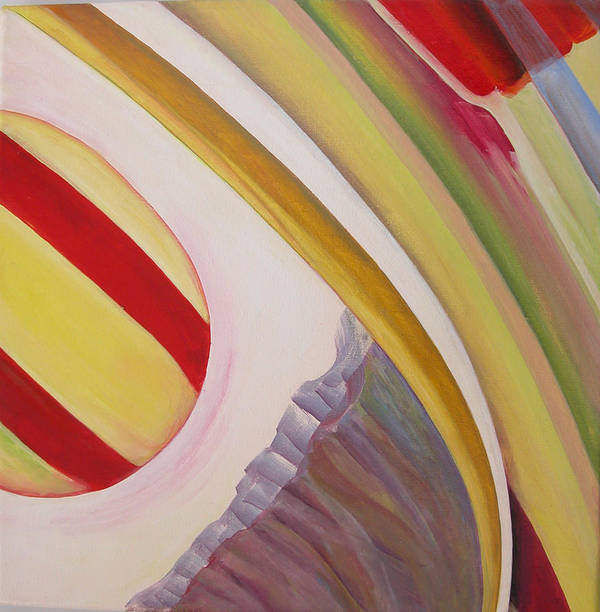 Abstract Art Print featuring the painting Sens 4 by Muriel Dolemieux