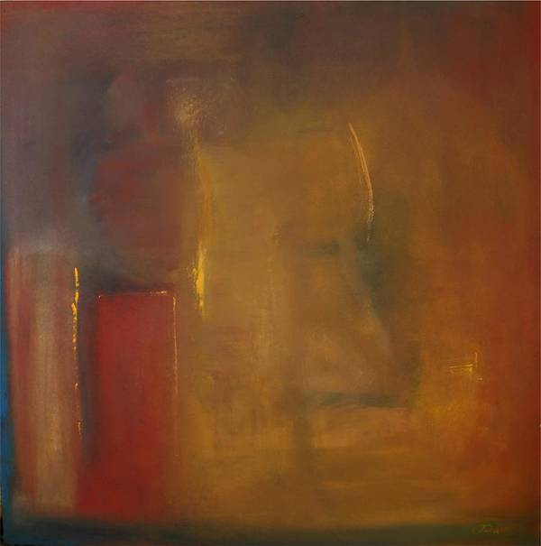 Art Print featuring the painting Softly Reflecting by Jack Diamond
