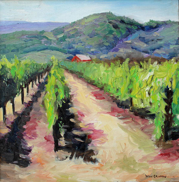 Napa Art Print featuring the painting Solano Vineyards by Wyn Ericson