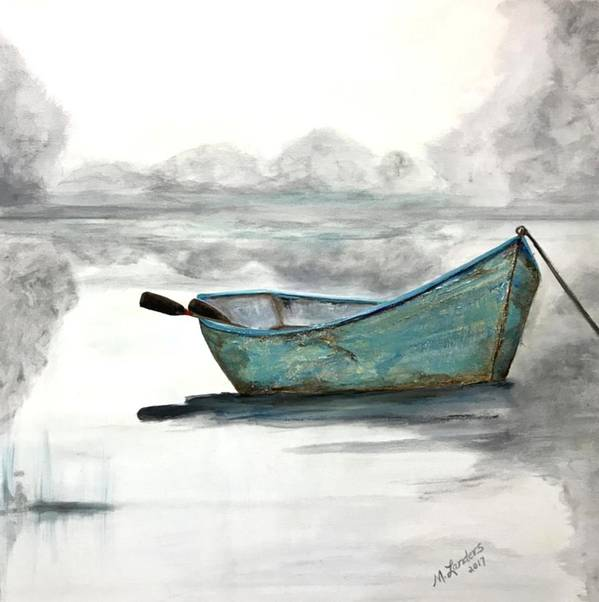 Boat Art Print featuring the painting Solitude by Marilyn Landers