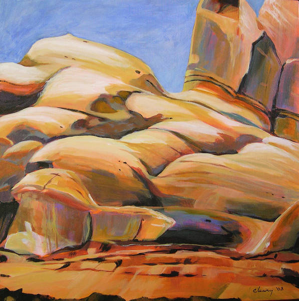 Landscape Art Print featuring the painting Southwest Stillness 3 by Melody Cleary