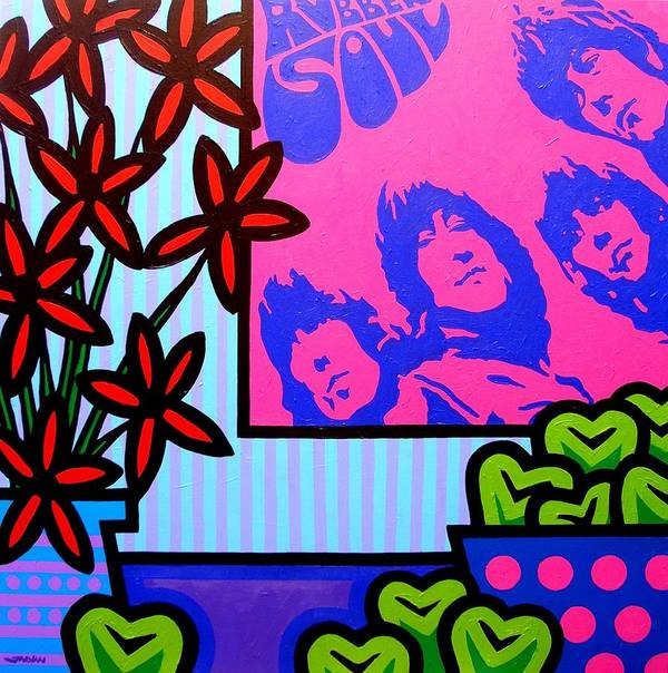 Pop Art Art Print featuring the painting Still Life With The Beatles by John Nolan