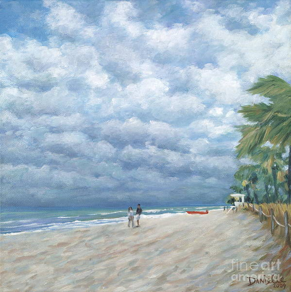 Fort Lauderdale Art Print featuring the painting Storm On The Horizon by Danielle Perry