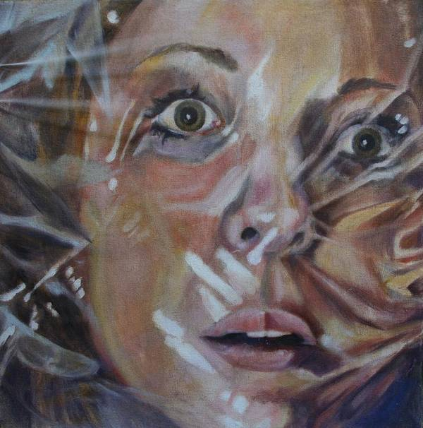 Face Art Print featuring the painting Suffocation by Alyson Harris