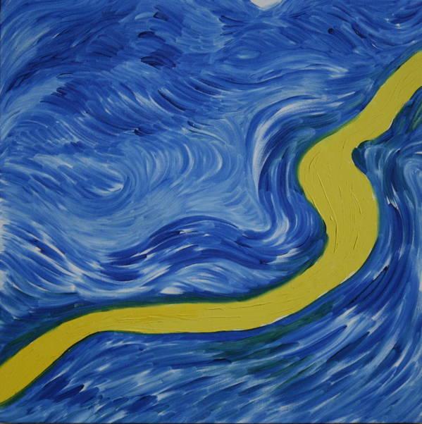 Art Print featuring the painting Symphonies Of Change by Prakash Bal Joshi