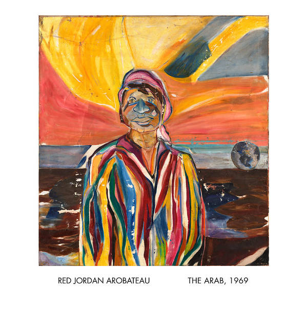 Coat-of-many-colors Art Print featuring the painting The Arab by Red Jordan Arobateau