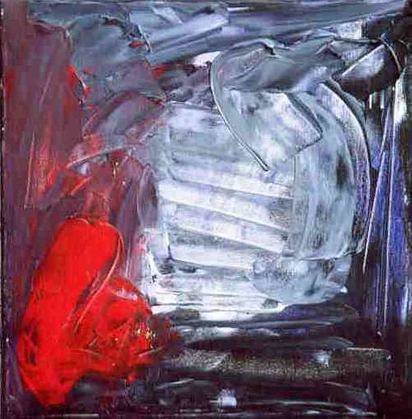 Silver Art Print featuring the painting The Chrome Heart Chamber by Bruce Combs - REACH BEYOND