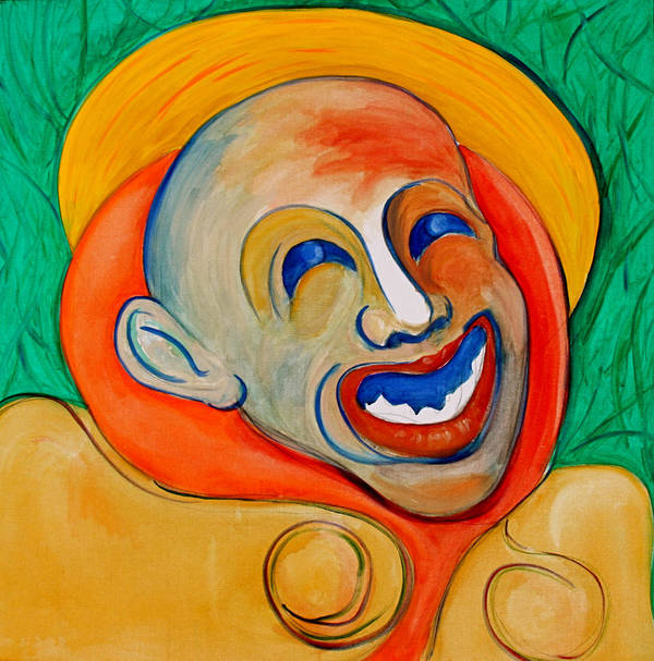 Clown Art Print featuring the painting The Laugh Of A Clown by Dan Earle