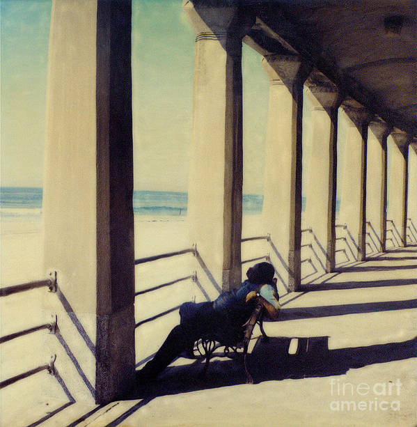 Seashore Art Print featuring the photograph The Nap by Keith Dillon