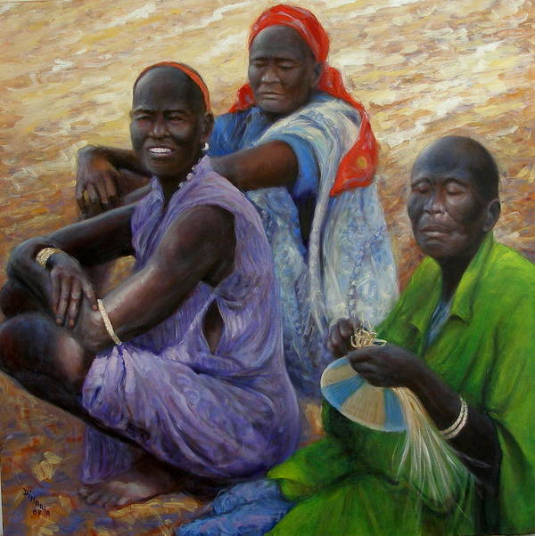 Realism Art Print featuring the painting Three Graces by Donelli DiMaria
