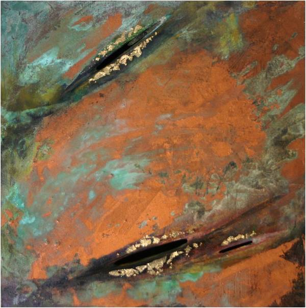 Landscape Art Print featuring the painting Transitory Marks II by Dodd Holsapple