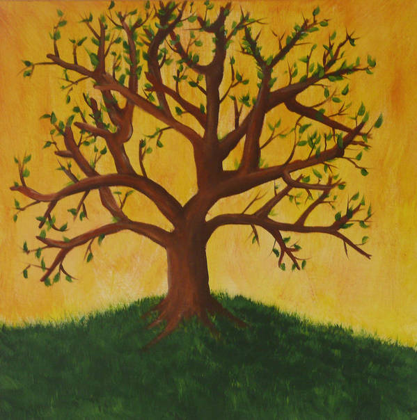 Tree Art Print featuring the painting Tree Of Life by Jennifer Hernandez