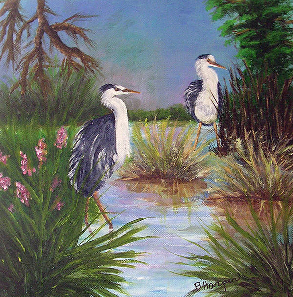 Heron Art Print featuring the painting Tricolored Heron by Barbara Harper