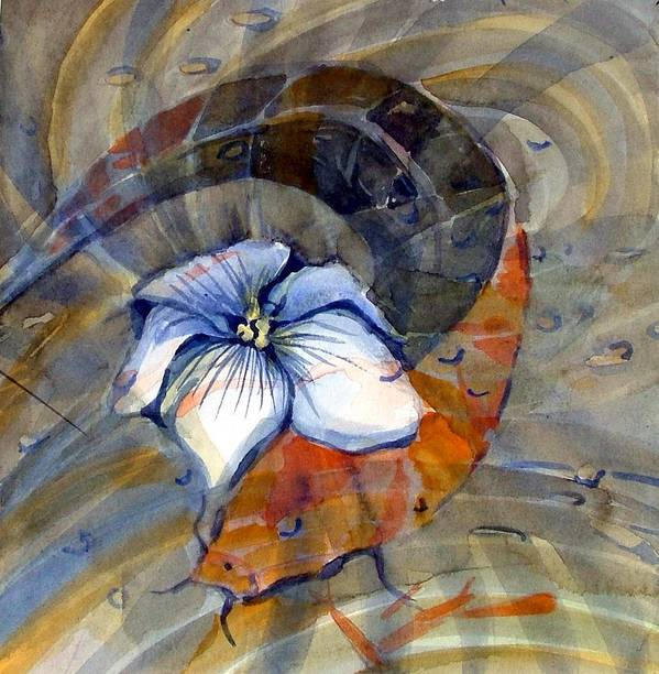 Flower Art Print featuring the painting White Magnolia by Mindy Newman