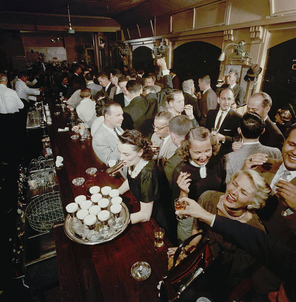 Timeincown Art Print featuring the photograph At The Buena Vista Bar by Nat Farbman