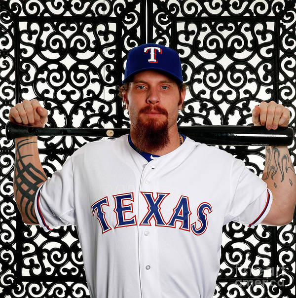 People Art Print featuring the photograph Josh Hamilton by Jamie Squire